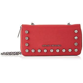 ARMANI EXCHANGE Stud Chain Wallet - Borsette da polso Donna Rosso (Red Shoes) 10.5x3x19 cm (B x H T)