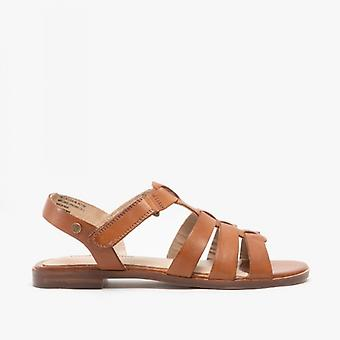 Hush Puppies Laila Ladies Leather Sandals Tan