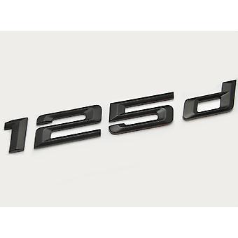 Matt Black BMW 125d Car Model Rear Boot Number Letter Sticker Decal Badge Emblem For 1 Series E81 E82 E87 E88 F20 F21 F52 F40