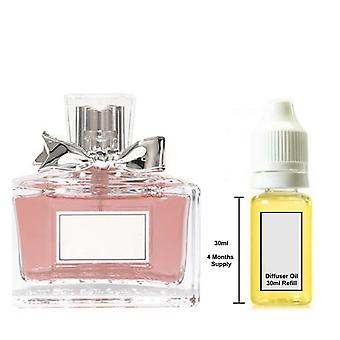 Christian Dior Miss DiorFor Her Inspired Fragrance 30ml Refill Essential Diffuser Oil Burner Scent Diffuser