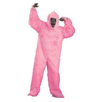 Pink Gorilla voksen kostume