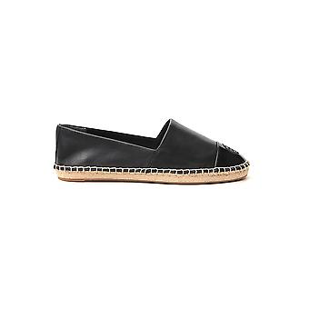 Tory Burch 61194004 Women's Black Leather Espadrilles