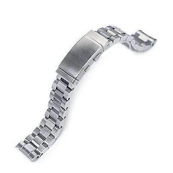 Strapcode watch bracelet 20mm hexad oyster 316l stainless steel watch band for seiko mm300 prospex marinemaster sbdx001, wetsuit ratchet buckle