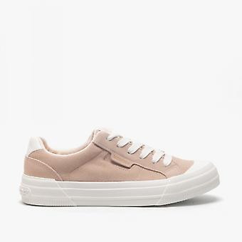 Rocket Dog Cheery Nubuck Ladies Casual Trainers Soft Pink