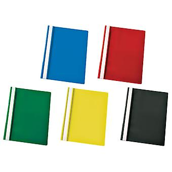 RVFM Flat File Polypropylene A4 Assorted Pack of 25