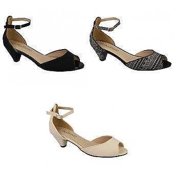 أن ميشيل النسائي/السيدات منتصف سبقا كعب زقزقة المحكمة إصبع القدم أحذية