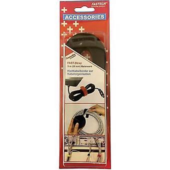 FASTECH® 697-330C Koukku- ja silmukkateippi niputtamiseen Koukku- ja silmukkatyyny (L x W) 5000 mm x 20 mm Musta 5 m
