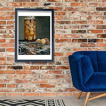 Claude Monet - Jar of Peaches Poster Print Giclee