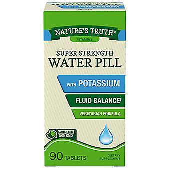 Nature's waarheid super sterkte waterpil met kalium, caplets, 90 ea