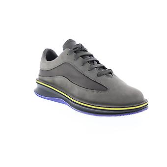 Camper Rolling  Mens Gray Leather Lace Up Low Top Sneakers Shoes