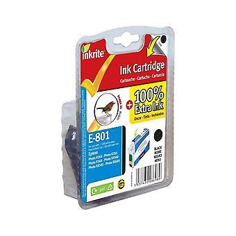 Inkrite NG skrivare bläck för Epson R265 R360 RX560 - T080140 svart (Robin)