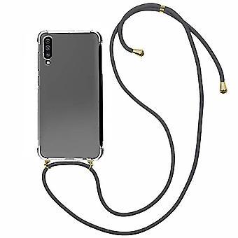 Cubierta trasera Cable a prueba de golpes TPU + PC para Samsung A70 transparente