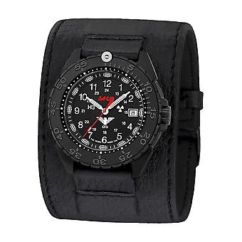 KHS Wristwatch الرجال المنفذ الأسود الصلب CR KHS. ENFBSCR. Lk