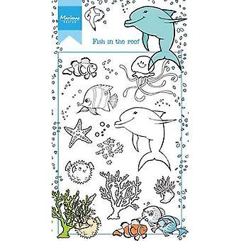 ماريان تصميم ختم Hetty & apos;s الأسماك في الشعاب المرجانية HT1618 10,5x18,5cm