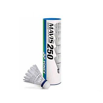 Yonex Mavis 250 Badminton Shuttlecocks Shuttles (Tube of 6) White