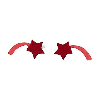 TOC fete Sterling Silver Pink Shooting Star Stud cercei