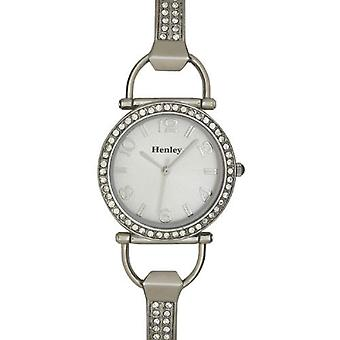 Henley Glamour D-Link Silver Dial Ladies Dress Watch H07073.1