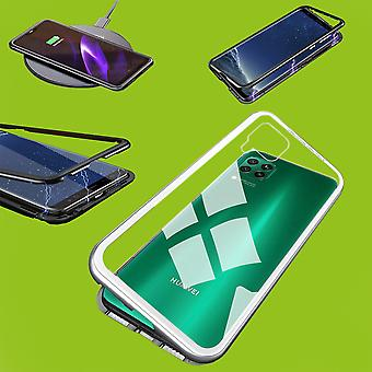 For Huawei P40 Lite Magnet / Metal / Glass Case Bumper Transparent / Silver Case Sleeve New