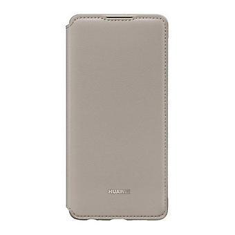 Folio matkapuhelin tapauksessa Huawei P30 flip lompakko / khaki