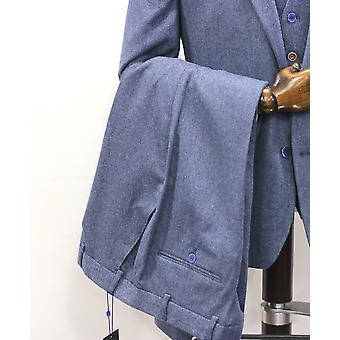 Niebieskie spodnie tweedowe Donegal Tweed