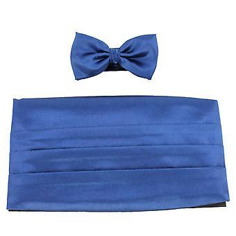 Knightsbridge Neckwear Bow Tie and Cummerbund Set - Blue