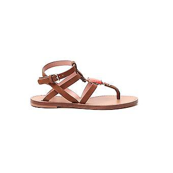 Alberta Ferretti 63038005a2075 Kvinder's Brown Læder Sandaler