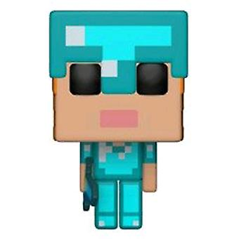 Minecraft Alex dans Diamond Armor US Exclusive Pop! vinyle