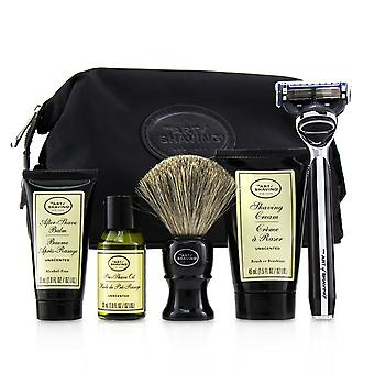The four elements of the perfect shave set with bag unscented: pre shave oil + shave crm + a/s balm + brush + razor 235121 5pcs+1bag