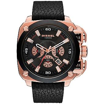 Diesel DZ7346 BAMF Chronograph Black Dial Black Leather Men's Watch