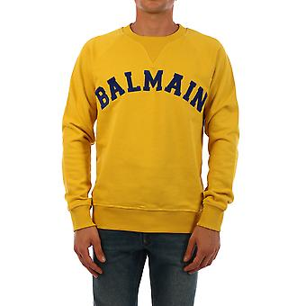 Balmain Uh13279i377ial Men's Yellow Cotton Sweatshirt