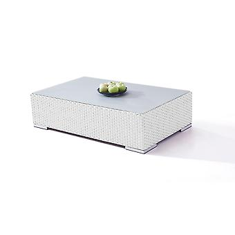 Polyrattan Cube table 125 cm - satiné blanc