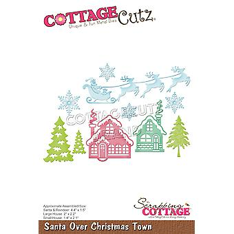 Scrapping Cottage Santa Over Christmas Town