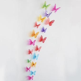3d Crystal Butterfly Wall Sticker 18stk