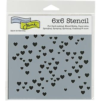 The Crafter's Workshop Micro Hearts 6x6 Inch Stencil
