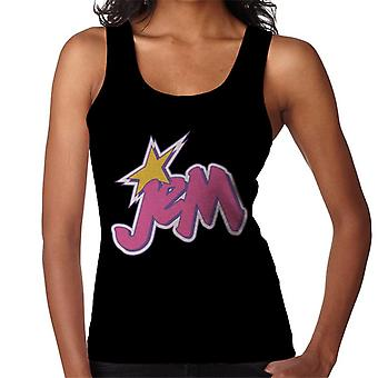 Jem And The Holograms Light Pink Logo Women's Vest