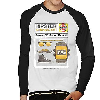 Haynes Hipster Kit Owners Workshop Manual Men's Baseball Long Sleeved T-Shirt
