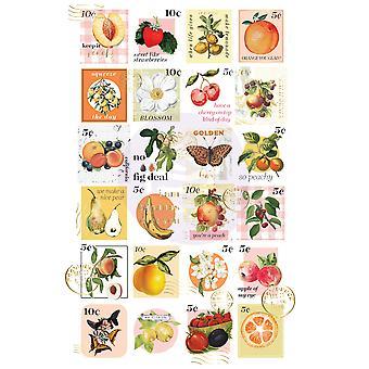 Autocollants prima marketing fruit paradise timbres-poste