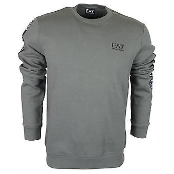 EA7 Emporio Armani Cotton Overhead Khaki Green Sweatshirt