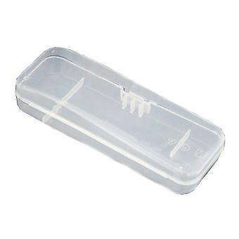 Boîte de rangement transparent pour rasoirs universels pour hommes - Stockage de rasoir en plastique