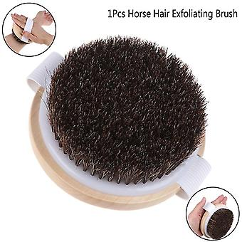 Body Massage Brush For Shower Exfoliation - Hot Natural Horse Hair Bath