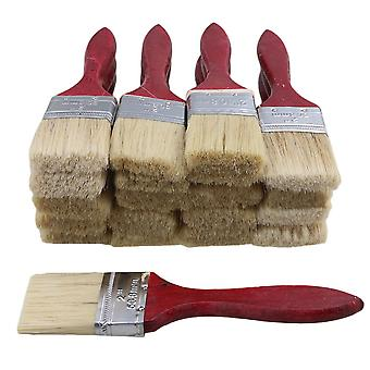 20pcs Red Wooden Handle Paint Brush 2 inch