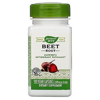 Natura's Way, Radice di barbabietola, 1.000 mg, 100 Capsule Vegane