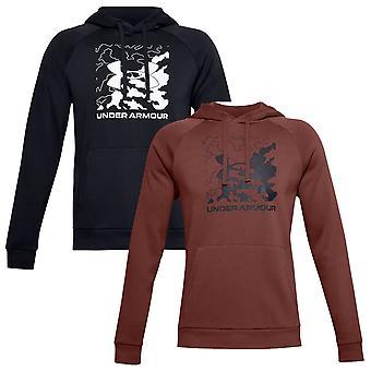 Under Armour Mens Rival Fleece Box Logo Soft Brushed Raglan Hoodie
