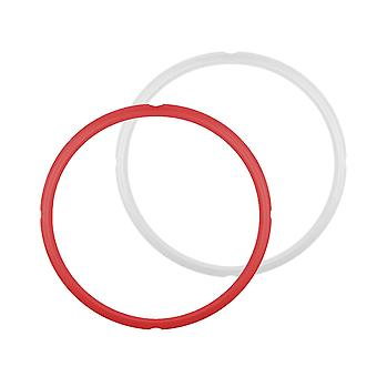 2PCS Silicone Instant Pot Sealing Ring 8 Quart Red/White 24x26CM