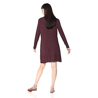 Brand - Daily Ritual Women's Jersey Mock-Neck Swing Dress, purple heat...