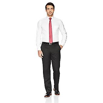 BUTTONED DOWN Men's Tailored Fit Cutaway-Collar Solid Non-Iron Dress Shirt (P...