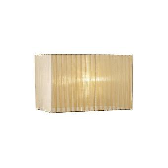 Rectangle Organza Shade, 380x190x230mm, Soft Bronze, For Table Lamp
