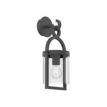 Inspirert Mantra - Maya - Vegglampe, 1 x E27, IP54, Antrasitt
