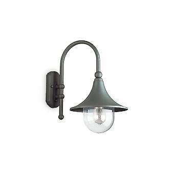 ideell lux cima - utendørs dome vegg lanterne 1 lys antracite IP43, E27