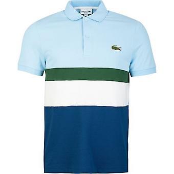 Lacoste Sport Colour Block Duża koszulka polo z logo